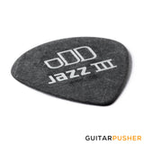 Dunlop Tortex Jazz III Pitch Black Guitar Pick 0.88mm