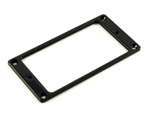 WD Metal Humbucker Mounting Ring Flat - Black - GuitarPusher