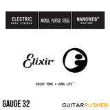 Elixir Electric Bass Nickel Plated Steel Single Bass Guitar String with NANOWEB Coating
