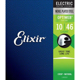 Elixir Electric Nickel Plated Steel Standard Gauge Electric Guitar Strings with OPTIWEB Coating