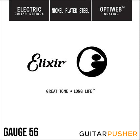 Elixir Electric Nickel Plated Steel Single Electric Guitar String with OPTIWEB Coating