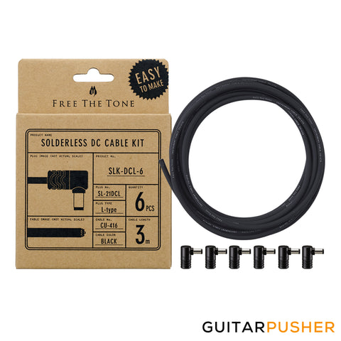 Free The Tone SLK-DCL-6 Solderless DC Cable Kit (SL-21DCL 6pcs / CU-416 3m)
