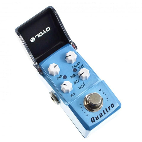 Joyo JF-318 Iron Man Quattro Delay 4 Mode Digital Analog Modulation Filter - GuitarPusher
