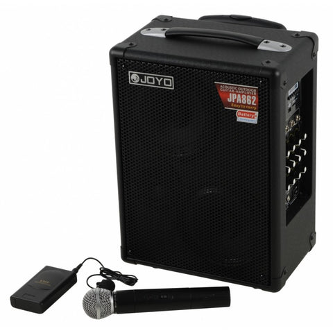 Joyo JPA-862 Street Roller Multi-Purpose Rechargeable Busking Amplifier with Wireless Microphone