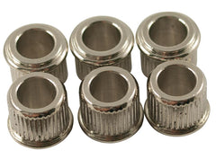 Kluson Adapter Bushings (SET 6) (1/4 inch ID) for Vintage Machine Head - Nickel (MB65N-L US) - GuitarPusher