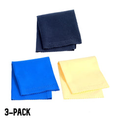 Music Nomad Soft Microfiber Sude Polishing Cloth 3-Pack MN203