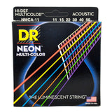 DR Neon Multi-Color Acoustic Guitar Strings