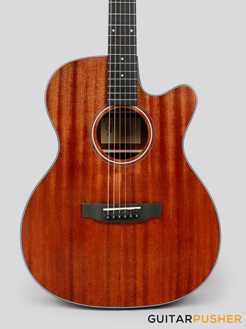 Phoebus PG-20NC v3 All-Mahogany OM/000 (3rd Gen.) Acoustic Guitar w/ Gig Bag
