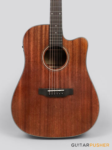Phoebus PG-30NCE v3 All-Mahogany Dreadnought (3rd Gen.) Acoustic-Electric Guitar w/ Gig Bag - GuitarPusher