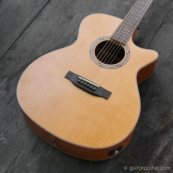 Phoebus PG-40 Solid Top OM Acoustic-Electric Guitar with Fishman Pickup
