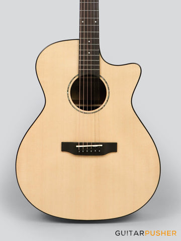 Phoebus PG-40c v3 Solid Top OM (3rd Gen.) Acoustic Guitar w/ Gig Bag - GuitarPusher