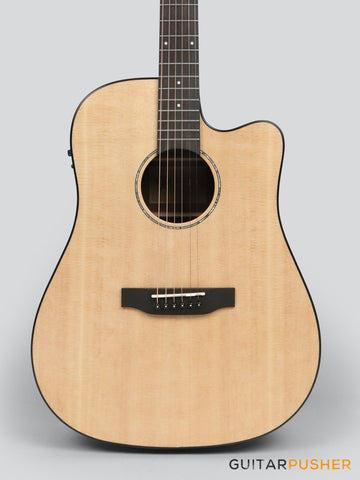 Phoebus PG-50ce v3 Solid Top Dreadnought (3rd Gen.) Acoustic-Electric Guitar w/ Gig Bag - GuitarPusher