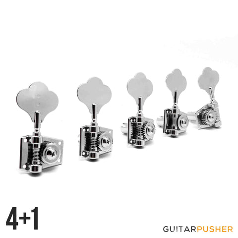 Graphtech Ratio 5-String 4+1 Open Back Classic Clover Leaf Bass Machine Heads PRB-5411-C0