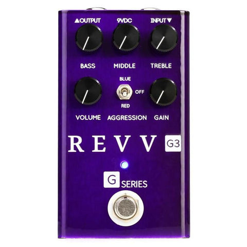 Revv G3 - Preamp/Overdrive/Distortion Pedal - GuitarPusher
