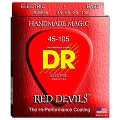 DR Red Devils 4-String K3 Coated Bass Strings - GuitarPusher