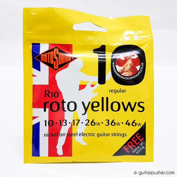 Rotosound Yellows Nickel Electric Guitar String Set - 10-46