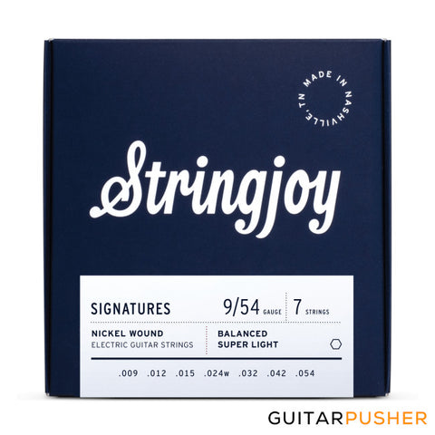Stringjoy 7-String Set - BALANCED 9s Super Light (9 12 15 24w 32 42 54)
