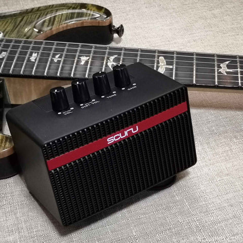 Scuru S1 Rechargeable 2-channel Mini Amp for Electric Guitar - GuitarPusher