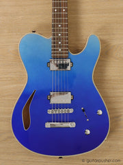 Tagima Signature Series New Blues Semi-Hollow Telecaster (Ocean Degrade Blue) - GuitarPusher