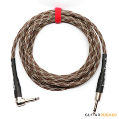 Rattlesnake Standard Instrument Cable - Straight to R/A Nickel Plugs - GuitarPusher