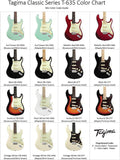 Tagima New T-635 Classic Series Stratocaster Electric Guitar - GuitarPusher