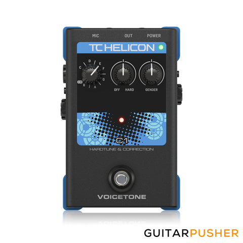 TC Helicon VoiceTone C1 Simple 1-Button Stompbox for Flexible Pitch Correction