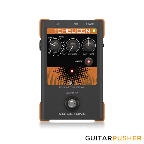 TC Helicon VoiceTone E1 Single-Button Stompbox for Compelling Vocal Echo Effects