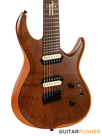 Tagima Brazil Series True Range 7 7-String Fanned Fret Electric Guitar (Natural Satin) Rosewood Fingerboard