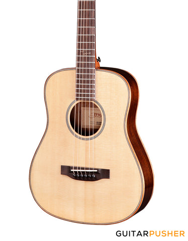 Tyma HB-400E Solid Spruce Top Indian Rosewood 3/4 Dreadnought Acoustic-Electric Guitar with Fishman Presys II