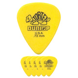 Dunlop Tortex Standard Guitar Pick 0.73mm Yellow