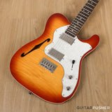 Vintage V72H Tele Custom Hardtail Semi-Hollow Electric Guitar - GuitarPusher