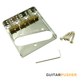 Wilkinson Compensated 3-Saddle Guitar Bridge Telecaster