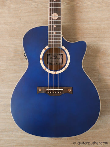 Baton Rouge X2S/ACE Blue Moon Solid Top Auditorium Acoustic-Electric Guitar with Gigbag - GuitarPusher