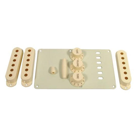 Fender Original Stratocaster Accessory Kit Knobs, Pickup Cover, Backplate, Tremolo Tip - GuitarPusher