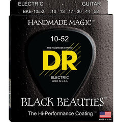 DR Black Beauties Coated Electric Guitar Strings Heavy Bottom