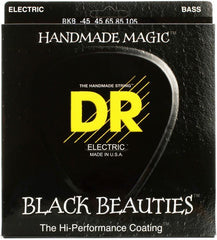 DR Black Beauties 5-String Black Stainless Bass Guitar Strings with K3