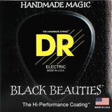 DR Black Beauties 5-String Black Stainless Bass Guitar Strings with K3 - GuitarPusher