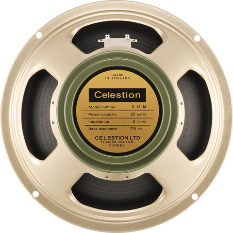 "Celestion G12M Greenback 25-Watt 12"" Guitar Speaker Made in UK"
