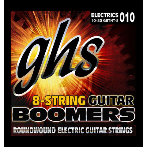 GHS Boomers 8-String Electric Guitar Strings 10-80