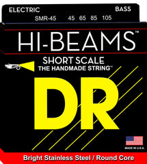 DR Hi-Beams Stainless Steel Short Scale 4-String Bass String - GuitarPusher