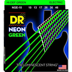 DR Neon Green Coated Electric Guitar Standard Strings