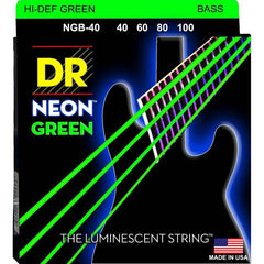 DR Neon Green 4-String Bass Guitar Strings with K3