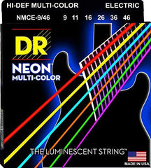 DR Neon Multi Color Coated Electric Guitar Strings Heavy Bottom