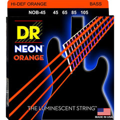 DR Neon Orange 4-String Bass Guitar Strings with K3 - GuitarPusher