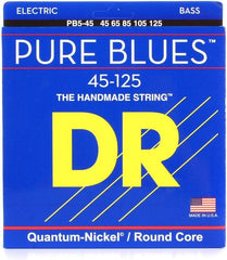 DR Pure Blues Handmade 5-String Bass Guitar Strings - GuitarPusher