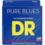 DR Pure Blues Handmade 4-String Bass Guitar Strings - GuitarPusher