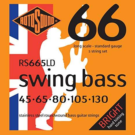 Rotosound Swing Bass 5-string Stainless Steel Bass Guitar
