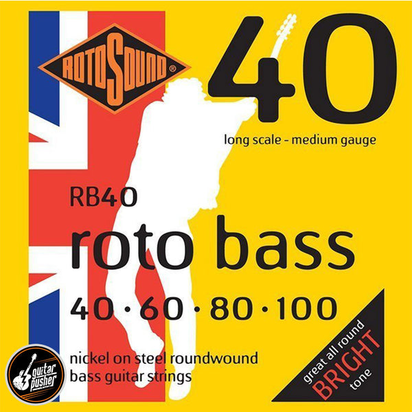 Rotosound Roundwound Rotobass 4-string Bass Guitar Nickel