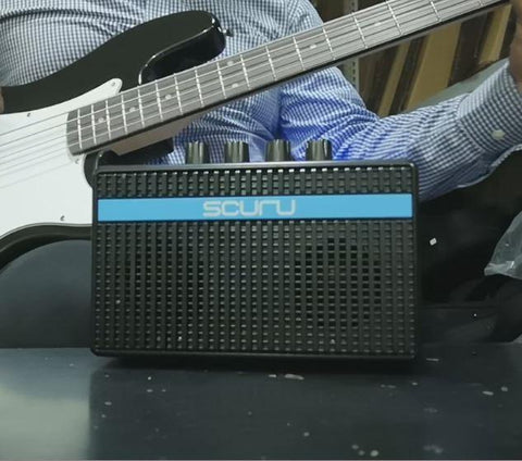 Scuru S1 Rechargeable 2-channel Mini Practice Amp for Bass
