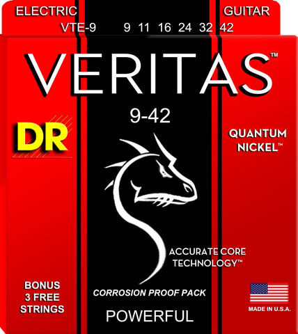 DR Veritas Extended Life Quantum Nickel Electric Guitar Standard Strings - GuitarPusher